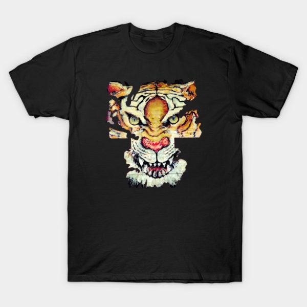 Black Fire Tiger T-Shirt