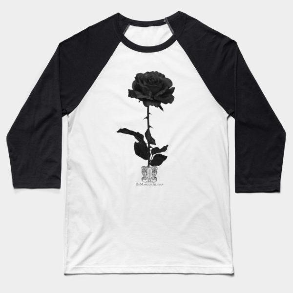 Black Rose Baseball Tee