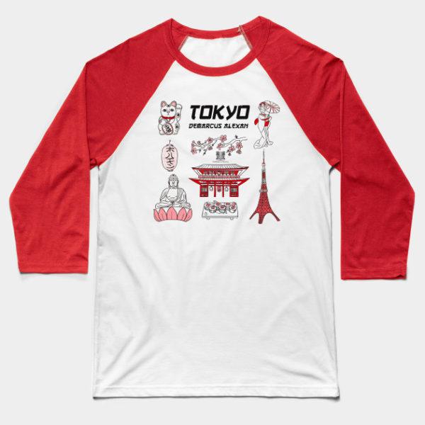 Tokyo Life Baseball Tee