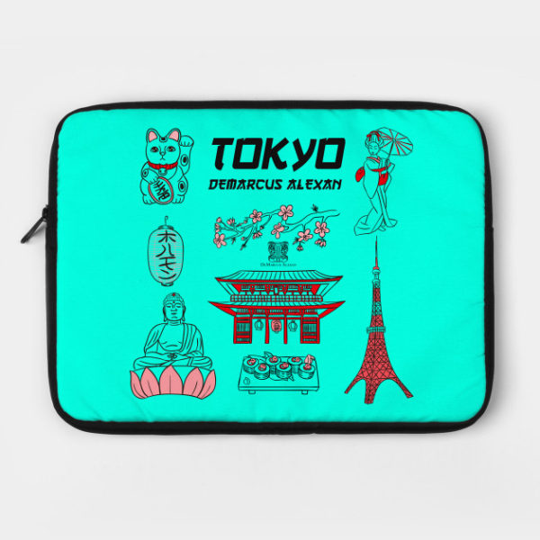 Tokyo Life Laptop Case