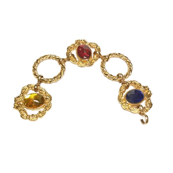 Framed Gem Ring Bracelet