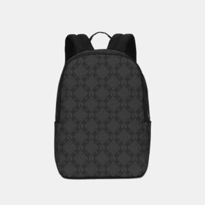 DeMarcus Alexan Dark Monogram Logo Backpack