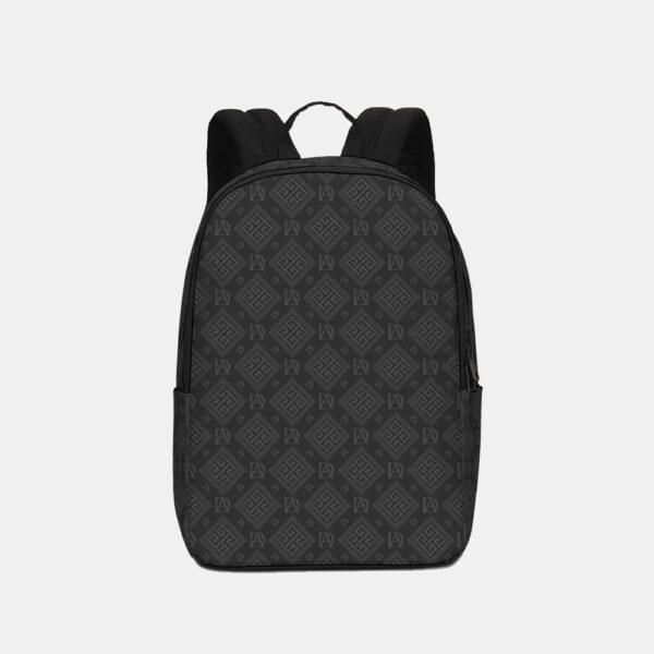 DeMarcus Alexan Dark Monogram Logo Backpack