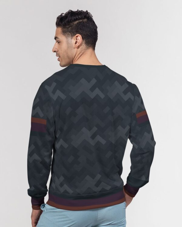 DeMarcus Alexan Stripe Blocks Flag Crewneck Pullover
