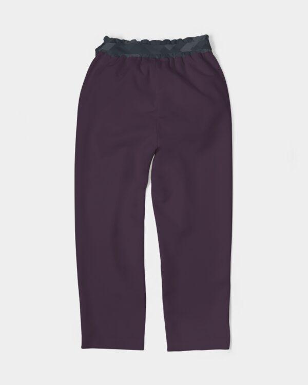 DeMarcus Alexan Stripe Blocks Women's Belted Tapered Pants