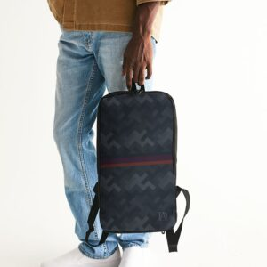 DeMarcus Alexan Stripe Blocks Slim Tech Backpack