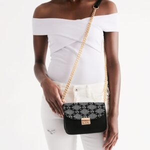 DeMarcus Alexan B/W Monogram Shoulder Bag