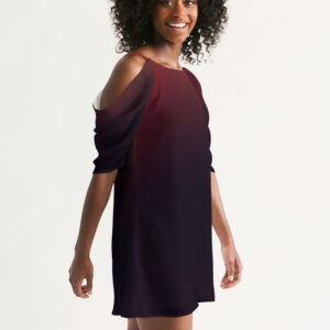 DeMarcus Alexan Black Fire A-Line Dress