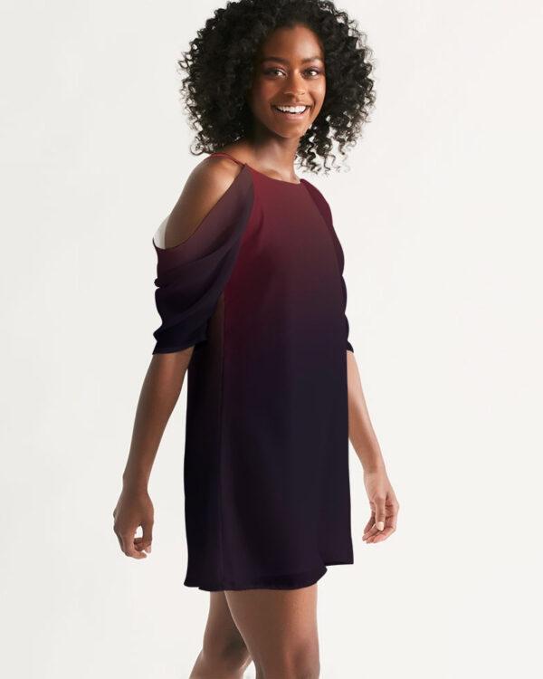 DeMarcus Alexan Black Fire A-Line Dress