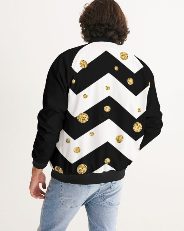DeMarcus Alexan Gold Diamonds Bomber Jacket