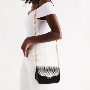 DeMarcus Alexan Squares Logo Shoulder Bag