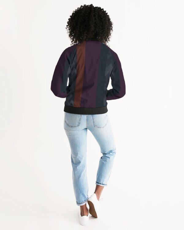 eMarcus Alexan Stripe Blocks Women's Bomber Jacket
