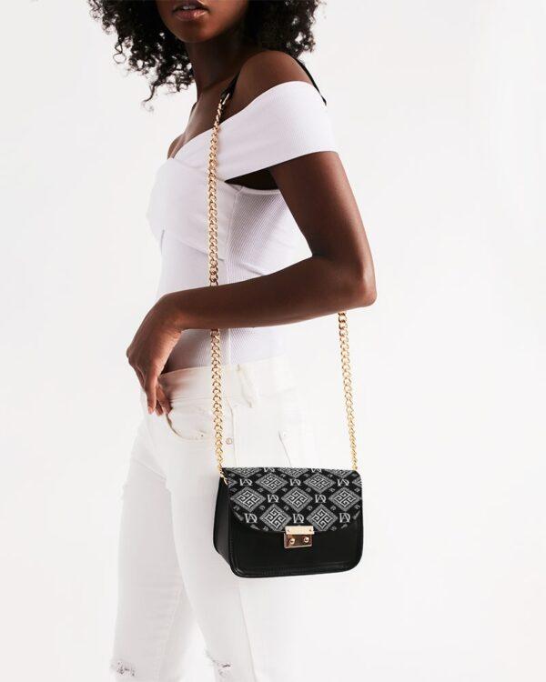 DeMarcus Alexan B/W Monogram Shoulder Bag